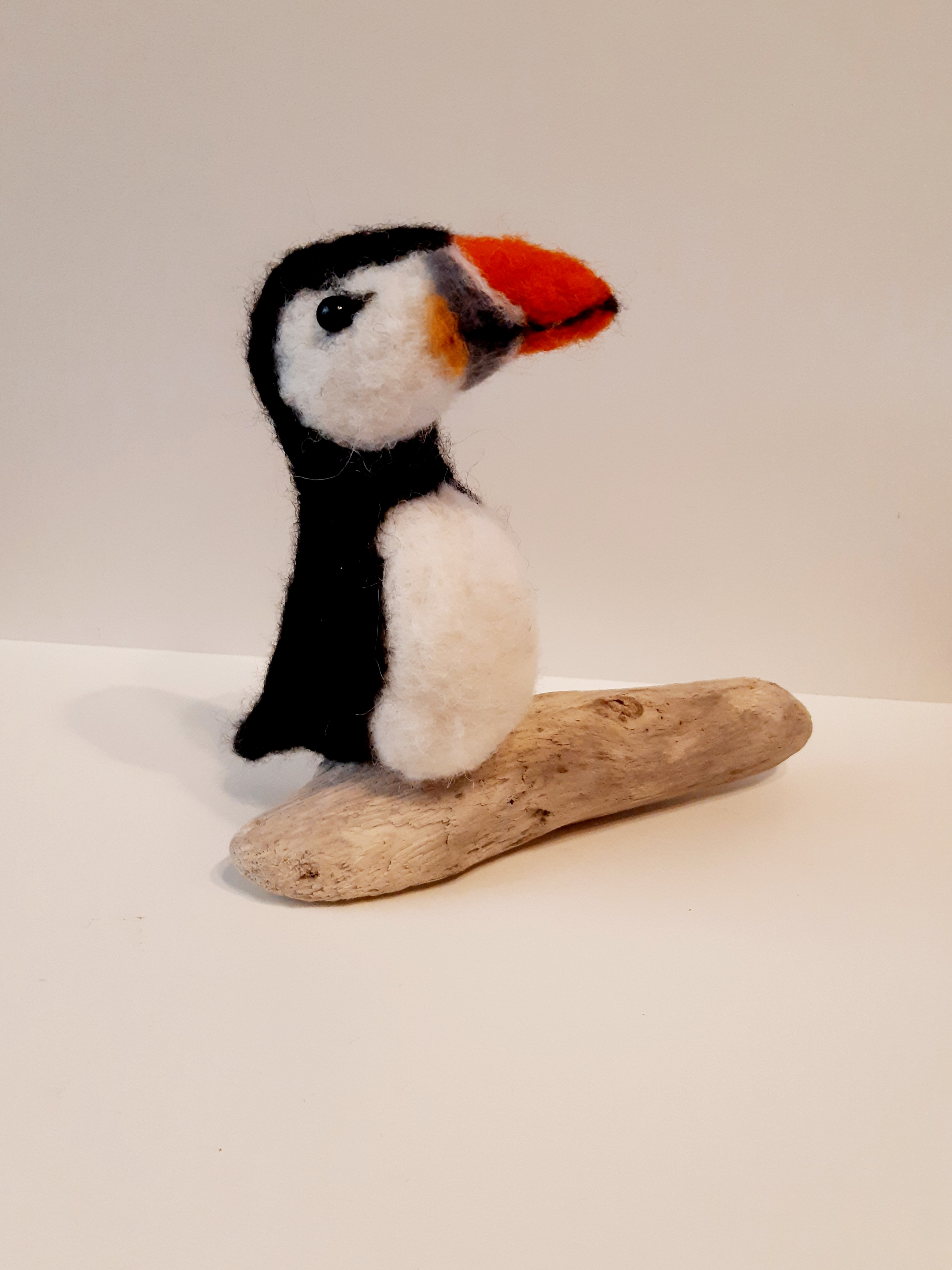 Needle felted puffin